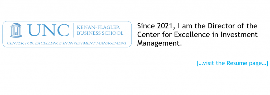 I am the Director of the Center for Excellence in Investment Management